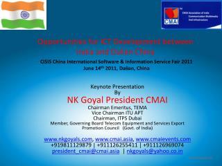 www.cmai.asia  |  www.cmaievents.com  |  www.nkgoyals.com