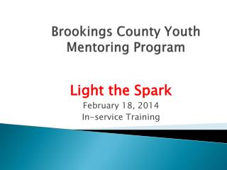 Brookings County Youth Mentoring Program