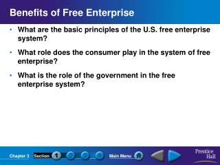 Benefits of Free Enterprise