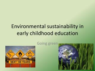 Environmental sustainability in early childhood education