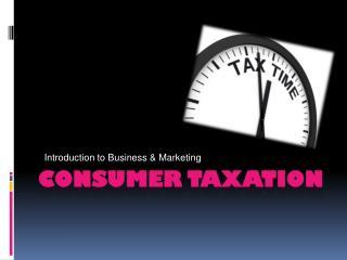 Consumer Taxation