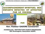 accompagnement spirituel  des  enfants  infectes   et  affectes par  le  vih