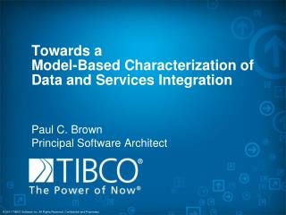 Towards a  Model-Based  Characterization of Data and Services  Integration