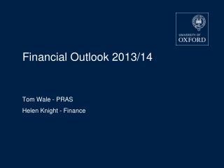 Financial Outlook 2013/14