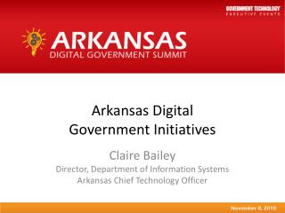 Arkansas Digital  Government Initiatives
