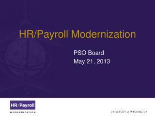 HR/Payroll Modernization