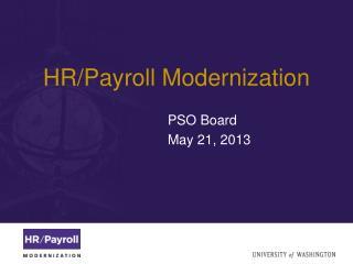 HR/Payroll Modernization
