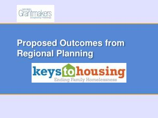 Proposed Outcomes from Regional Planning