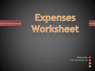 Expenses Worksheet