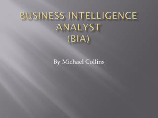 Business intelligence analyst (BIA)