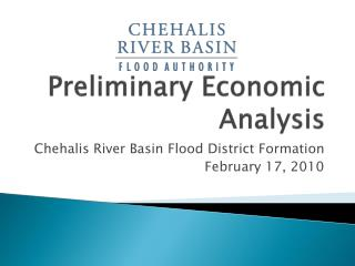 Preliminary Economic  Analysis