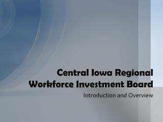 Central Iowa Regional Workforce Investment Board