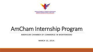 AmCham  Internship Program
