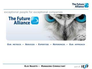 Elie Naudts –  Managing Consultant