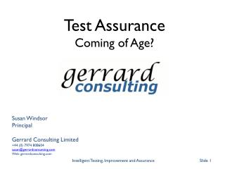 Susan Windsor Principal Gerrard Consulting Limited +44 (0) 7974 808604 susan@gerrardconsunting.com Web: gerrardconsulti
