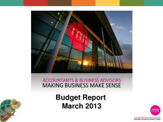 Budget Report  March 2013