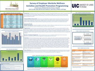 Survey of  Employer  Worksite Wellness  Activities and  Health Promotion  Programming Cheryl Larson, Midwest Business G