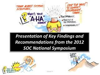 Presentation of Key Findings and Recommendations from the 2012 SOC National Symposium