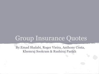 Group Insurance Quotes