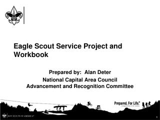 Eagle Scout Service Project and Workbook