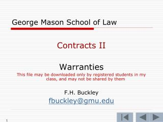George Mason School of Law