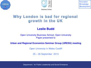 Why London is bad for regional growth in the UK