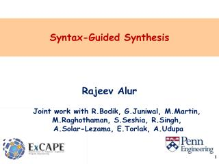 Syntax-Guided Synthesis