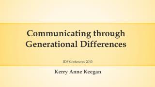 Communicating through Generational Differences