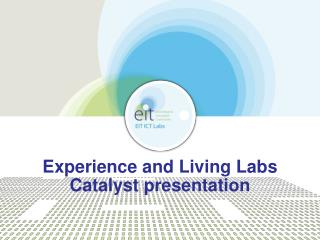 Experience and Living Labs Catalyst presentation