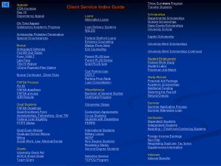 Client Service Index Guide