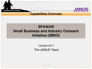 SPAWAR  Small Business and Industry Outreach Initiative (SBIOI)