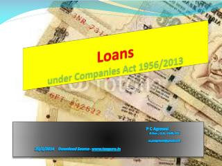 Loans under Companies Act 1956/2013