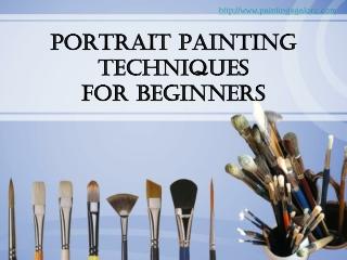 portrait painting -  simple techniques forbeginners