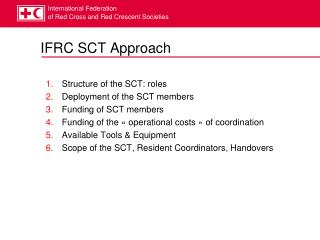 IFRC SCT Approach