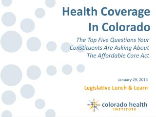 Legislative Lunch & Learn