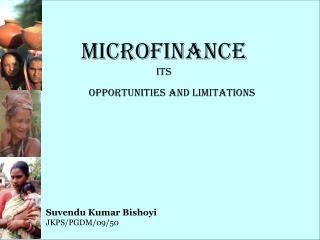 Microfinance its