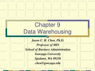 Chapter 9 Data Warehousing