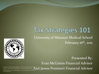 Tax Strategies  101
