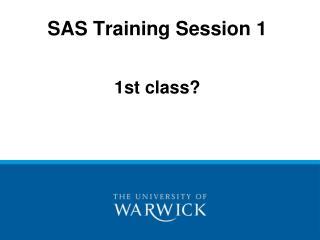 sas training session 1