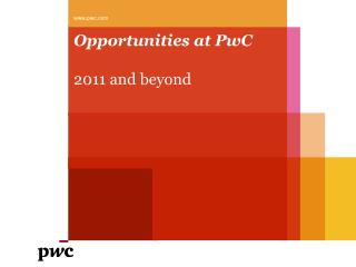 Opportunities at PwC