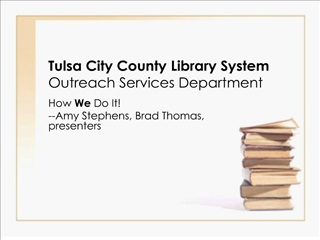tulsa city county library system outreach services department