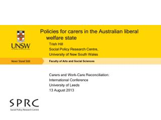 Policies for  carers  in the Australian liberal welfare state