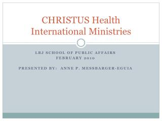 CHRISTUS Health International Ministries