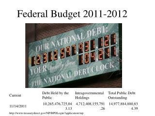 Federal Budget 2011-2012
