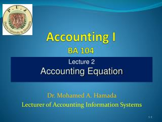 Accounting I BA 104