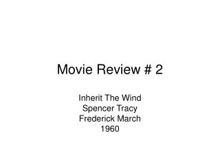 movie review  2