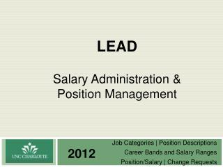 LEAD Salary Administration & Position Management