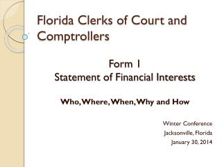 Florida Clerks of Court and Comptrollers