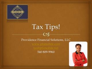 Tax Tips!
