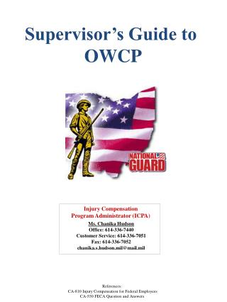 Supervisor's Guide to  OWCP
